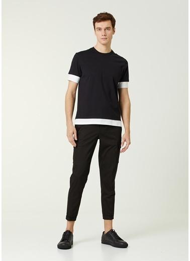 Neil Barrett Neil Barrett  Kontrast Renk Detaylı T-shirt 101633713 Siyah